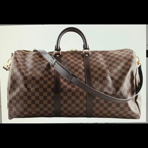 Louis Vuitton Brown Damier Ebene Keepall 55